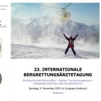 Bergrettungsärztetagung 2014 im Congress Innsbruck